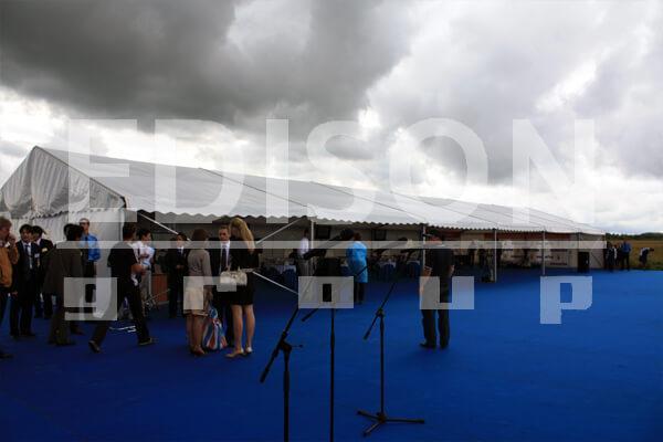 Церемония закладки завода Komatsu в г.Ярославль