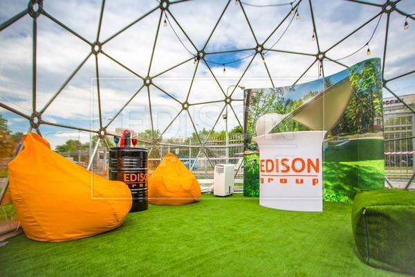 Сферические конструкции на выставке в Останкино — фото