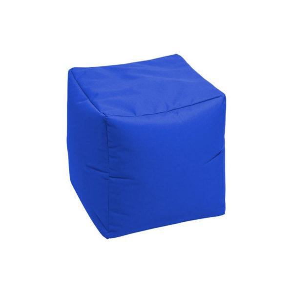 пуф кубик синий