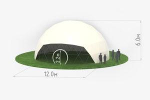 Схема сферического шатра диаметром 12 метров