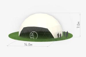 Схема сферического шатра диаметром 14 метров