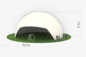 Схема сферического шатра диаметром 18 метров