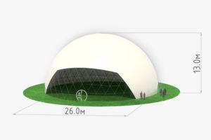 Схема сферического шатра диаметром 26 метров