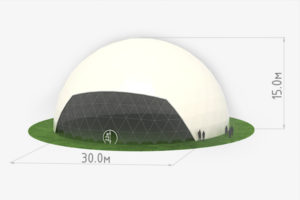 Схема сферического шатра диаметром 30 метров