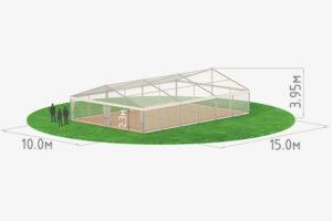 Тентовый павильон 10 с прозрачным куполом схема