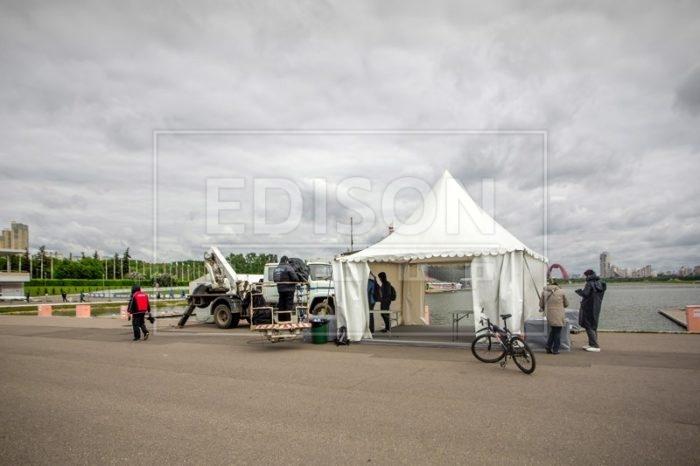 Аренда шатров Пагода для мероприятий в Крылатском - фото
