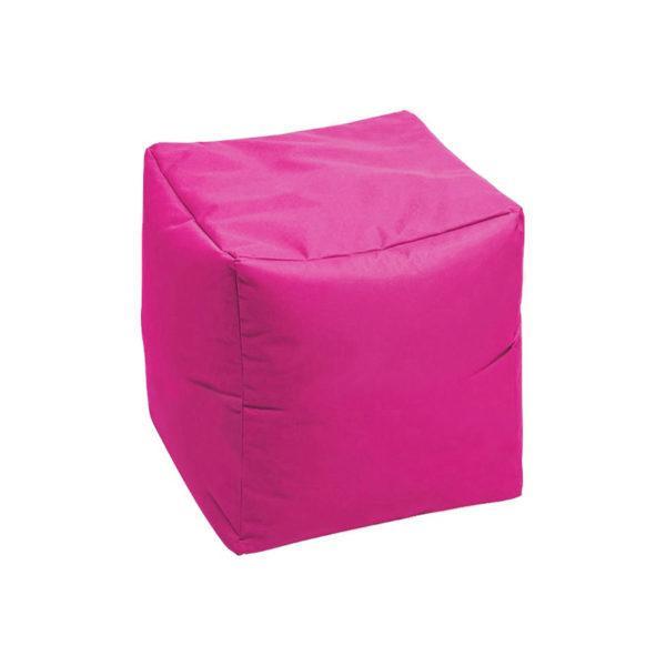 пуф кубик розовый