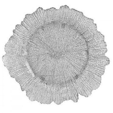 тарелка коралл серебро