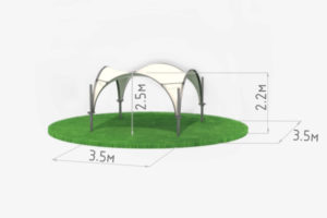 Схема арочного шатра 3,5 метра