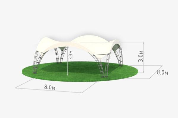Арочный шатер 8 схема