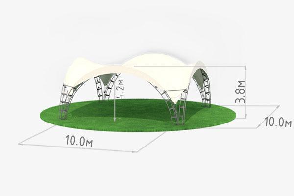 Арочный шатер 10 схема