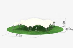 Арочный шатер 16 схема
