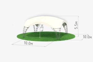 Арочный шатер High Peak 10 схема