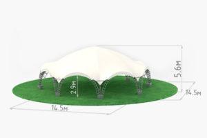 Арочный шатер Октогональ 6 схема