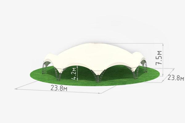 Арочный шатер Октогональ 10 схема