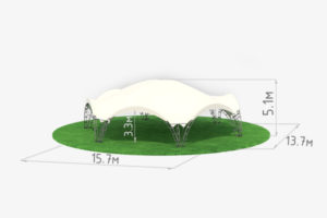 Арочный шатер гексагональ 8 схема