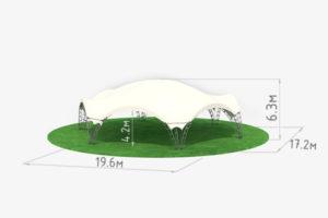 Арочный шатер Гексагональ 10 схема