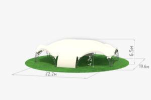 Арочный шатер Гексагональ Лонг схема