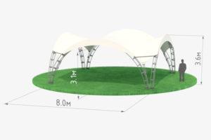 Арочный шатер 8