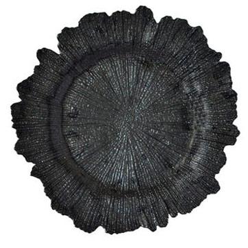 тарелка коралл черная