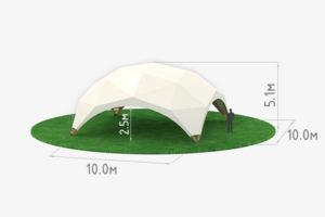 Деревянный шатер WOOD 10 схема