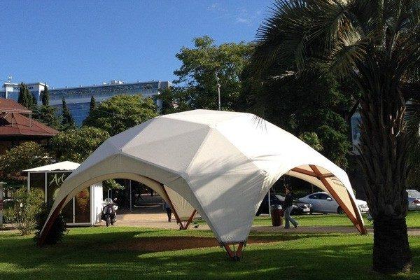 Деревянный шатер WOOD 8