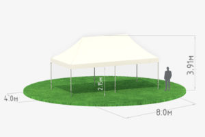 Мобильный шатер-трансформер 8х4 схема