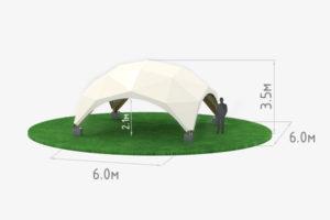 Деревянный шатер WOOD 6 схема