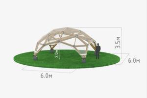 Деревянный шатер прозрачный WOOD 6 схема