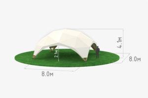 Деревянный шатер WOOD 8 схема