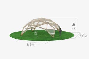 Деревянный шатер прозрачный WOOD 8 схема