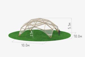 Деревянный шатер прозрачный WOOD 10 схема