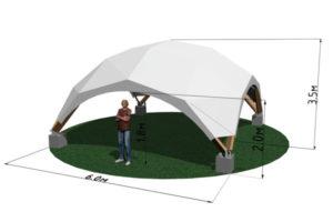 Деревянный шатер WOOD 6