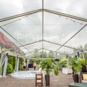 Тентовый павильон 10 с прозрачным куполом