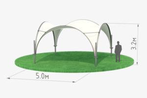 Арочный шатер 5 черный