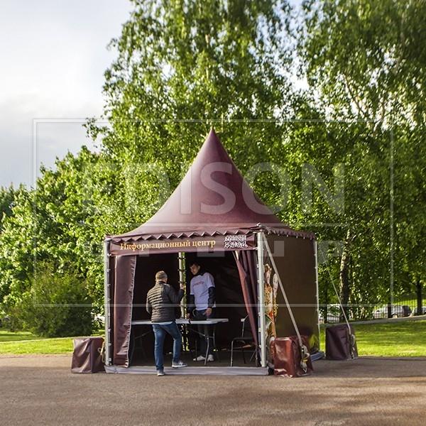 Брендирование купола шатра Пагода 3