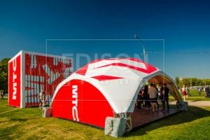 Брендированные шатры от EDISON group на Фестивале Booking Machine Festival в Коломенском