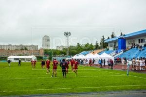 Шатры EDISON group наматче Чемпионата Европы по Регби 2018