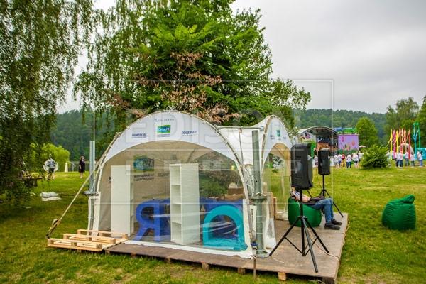 шатры в аренду на мероприятии в парке Серебряный бор