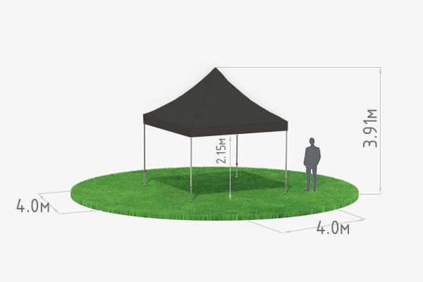 Мобильный шатер-трансформер 4х4 черный схема