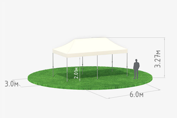 Аренда мобильного шатра трансформера 3х6 м схема