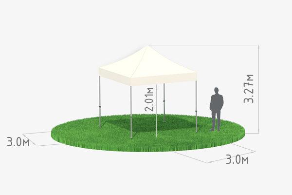 Мобильный шатер трансформер 3х3 схема