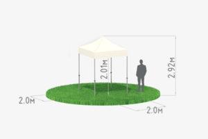 Мобильный шатер трансформер 2х2 схема