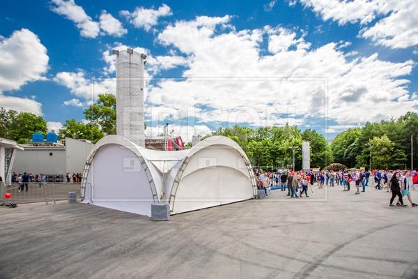 Арочные шатры от EDISON group в парке  «Сокольники»