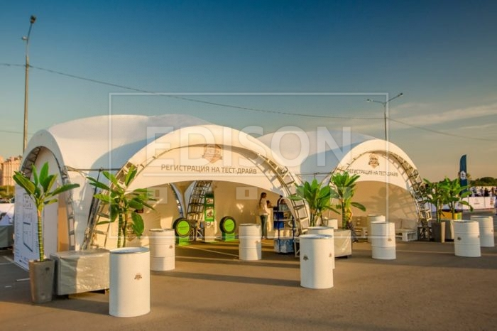 Арочные шатры на фестивале Subafest