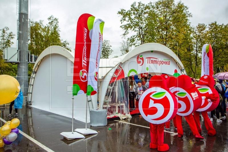 Арочный шатер на Московском марафоне 2018