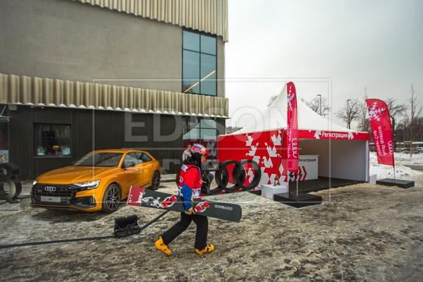Шатры на Турнире Audi quattro Winter Cup