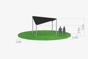 схема шатра кайт 4х4 черного