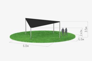 схема шатра кайт 6х6 черного