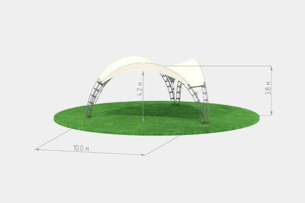 Аренда арочного шатра 10 треугольного